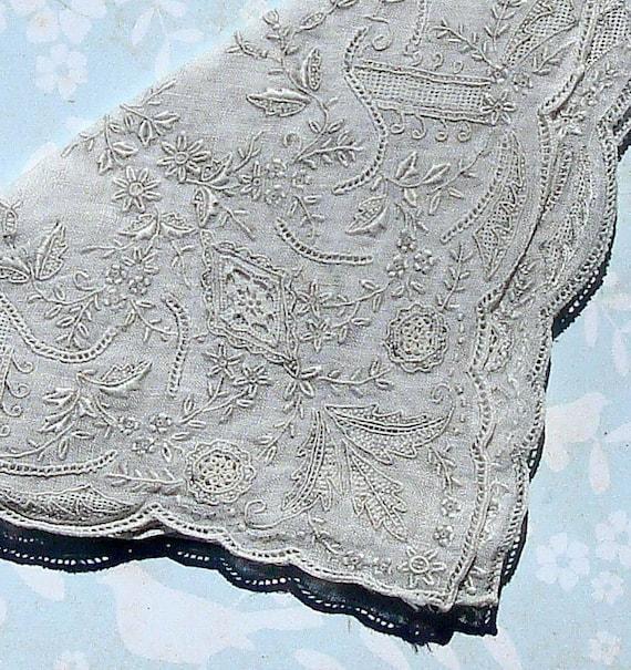 Antique Handkerchief Vintage Lace Hankie Wedding Hankie