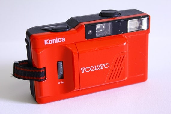 RESERVED   Rare Konica Tomato 35mm film camera from 1985