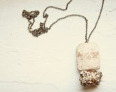 Hippopotamus Tooth and Pyrite Necklace
