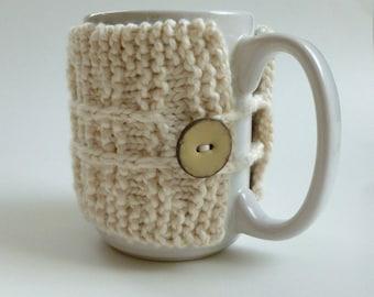 Cream Mug Cozy