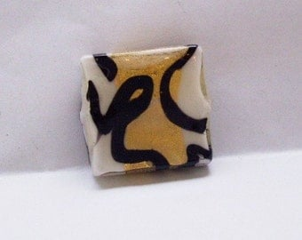 MURANO glass square bead