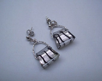 EARRINGS with little bags in  MURANO glass