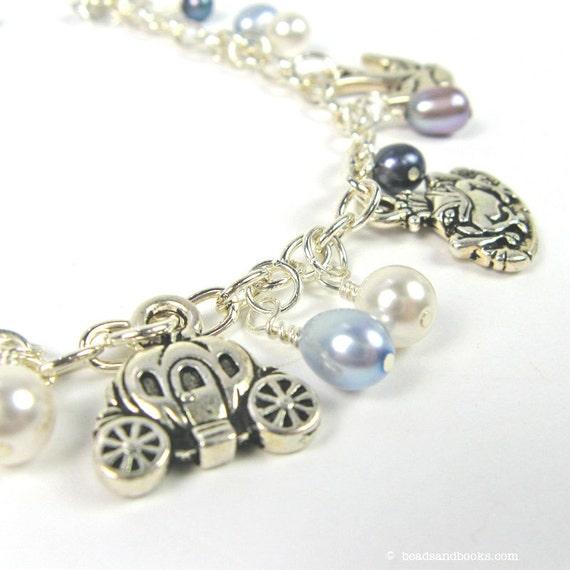 Fairy Tale Jewelry: Pearl Charm Bracelet