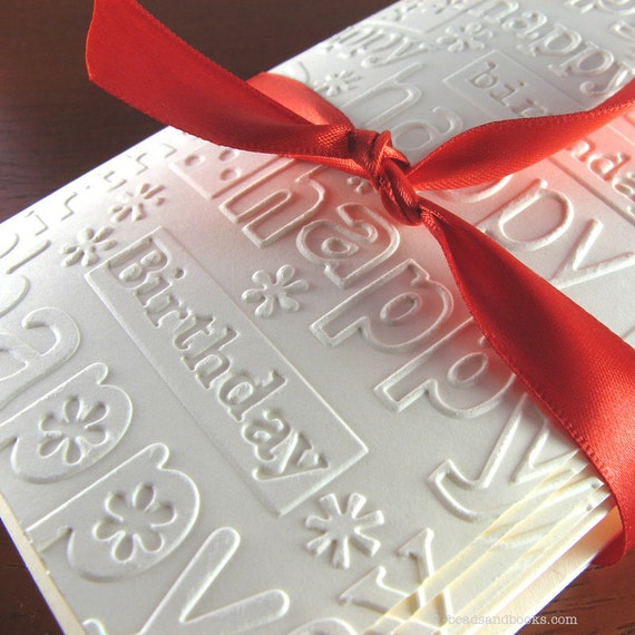 Birthday Cards Set of 8 - Embossed Cards with Matching Envelopes