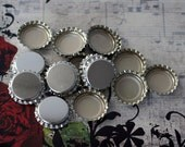 50 Bottle caps silver with liner for making bottle cap necklaces