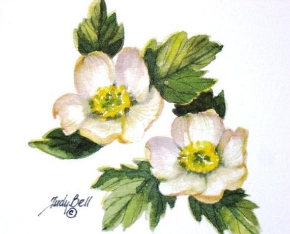 Wildflower Print - Globe Flower -Watercolor Painting
