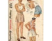 Simplicity 1960 Mens 1940s Boxer Shorts Mens Swing Era Vintage Sewing Pattern Waist 30