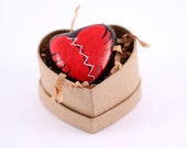River Stone Arts / Mended Heart Painted Stone Rock Valentines