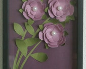 Lavender 3D Flower Picture in shadow box can be made any color