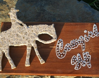 Cowgirl Up mosaic wall sign