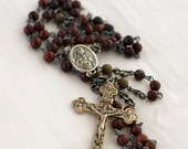 Red Stone Rosary - SOLD (Reserved for John S.)