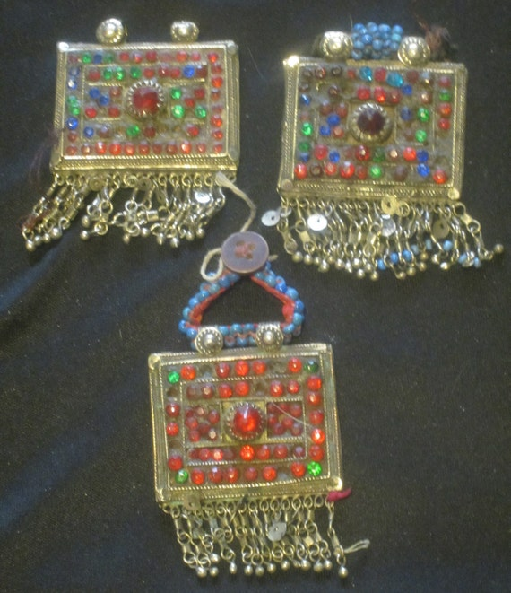 3 Small Kuchi Pendants with Dangles