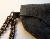 Military Clutch from Gray WWII Garrison Hat