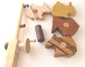Wooden toy FISH PLAY SET Natural Colorful