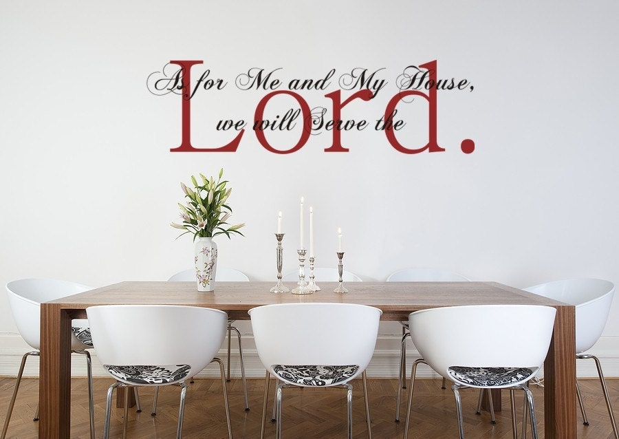 Bible Verse Wall Art vinyl wall art decal sticker as for me and my house joshua
