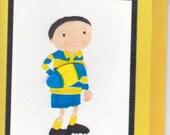 Boys Football - rugby  card