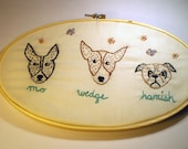 Custom Pet Portrait Embroidery - Made to Order