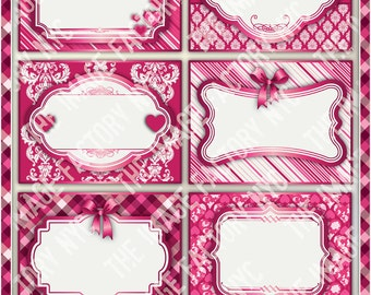 Valentines Printable Labels & Tags, for gift tags, place cards, recipe cards, labeling, etc (TIFNYC-VDLBL-1) Download and Print