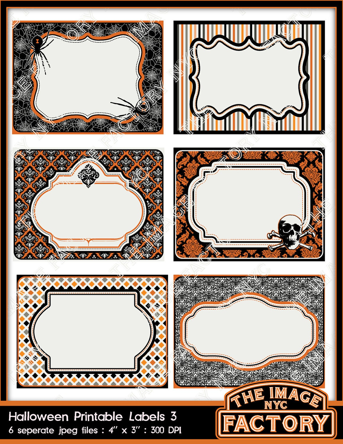 It's just a picture of Terrible Halloween Labels Printables