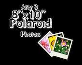 Any 3 Fine Art Photographs Printed as 8x10 Polaroids