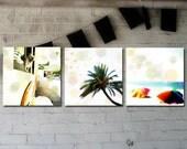 3 Bright Hawaii Surf Photo Prints -- 5x5