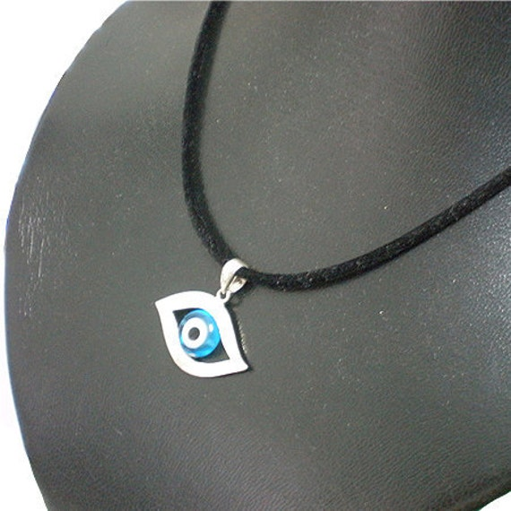 Stering Silver Evil Eye Necklace - Blue Evil Eye Pendant Jewelry, Symbol Of Protection, Fast Shipping