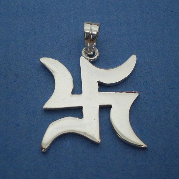 Pre History Ganesh Buddha Swastika Silver Charm Pendant Necklace