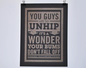 You guys are so unhip - Douglas Adams quote poster