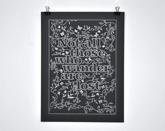 Those Who Wander - J.J.R. Tolkien Quote Poster