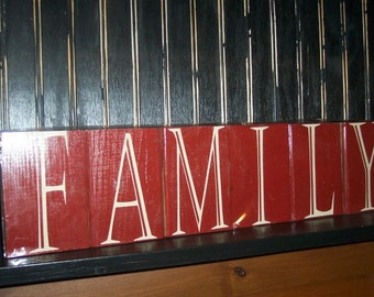 Family Blocks, Home Decor, Family, Home & Living, Vinyl lettering, Letter Blocks, Wooden Blocks