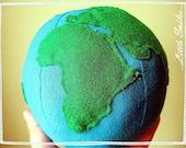 PDF Plushie Pattern - Planet Earth - Plush Globe Toy