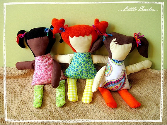 PDF Doll Pattern -  3 Hairstyle Options Included - The Norah Doll