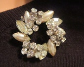 STUNNING Vintage Pearl and Rhinestone Demi Parure (Earrings Pictured in Second Picture)