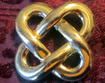 Vintage Gold Knot Brooch