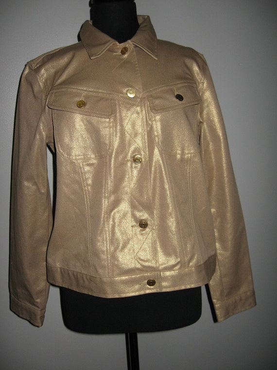 Ralph Lauren Gold Denim Jacket