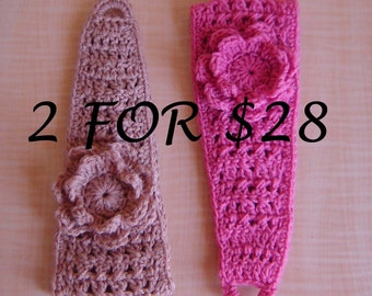 SALE Buy 2 Boho Style Crochet Headbands and SAVE