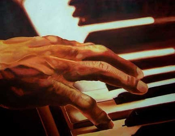 Piano 2007 - Original Oil Painting