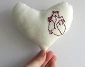 Art Heart - valentine softie. art plush. pincushion. toy
