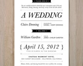 Headlines Printable Wedding Invitation
