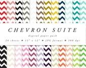 Digital Paper Pack: chevron, zig zags, pattern, pastels, brights, scrapbooking, printable paper
