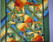 Parrots in Paradise Wallhanging