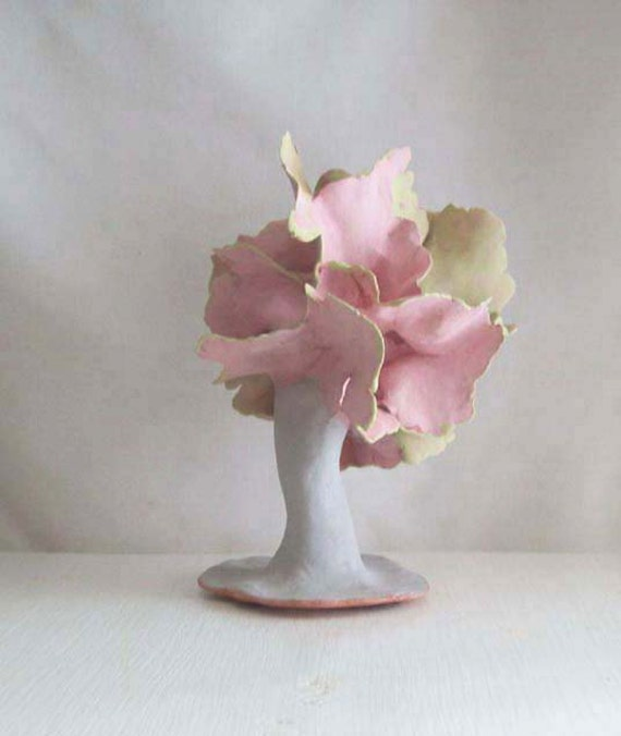 FOR JUDY ONLY, Thanks... Pretty In Pink Ceramic Tree Sculpture