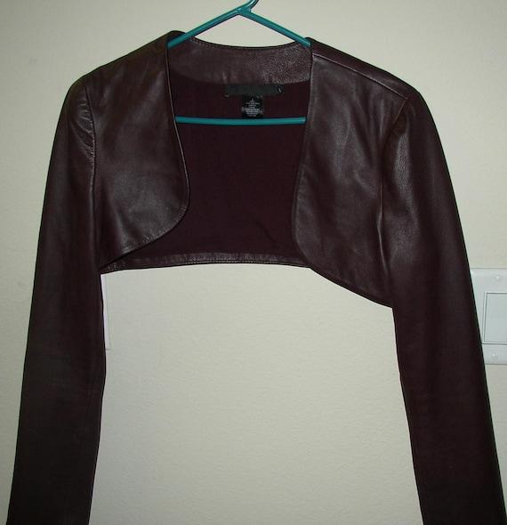Leather shrug jacket