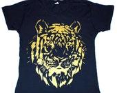 TIGER METALLIC TSHIRT - alternative apparel - small-medium-large
