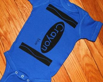 Blue Crayon Onesie