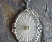 1920s Camphor Glass Pendant