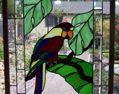 Parrot Stained Glass Window