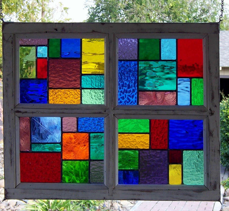 Framed Leaded Glass
