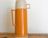 Vintage Mustard Yellow Thermos Travel Companion