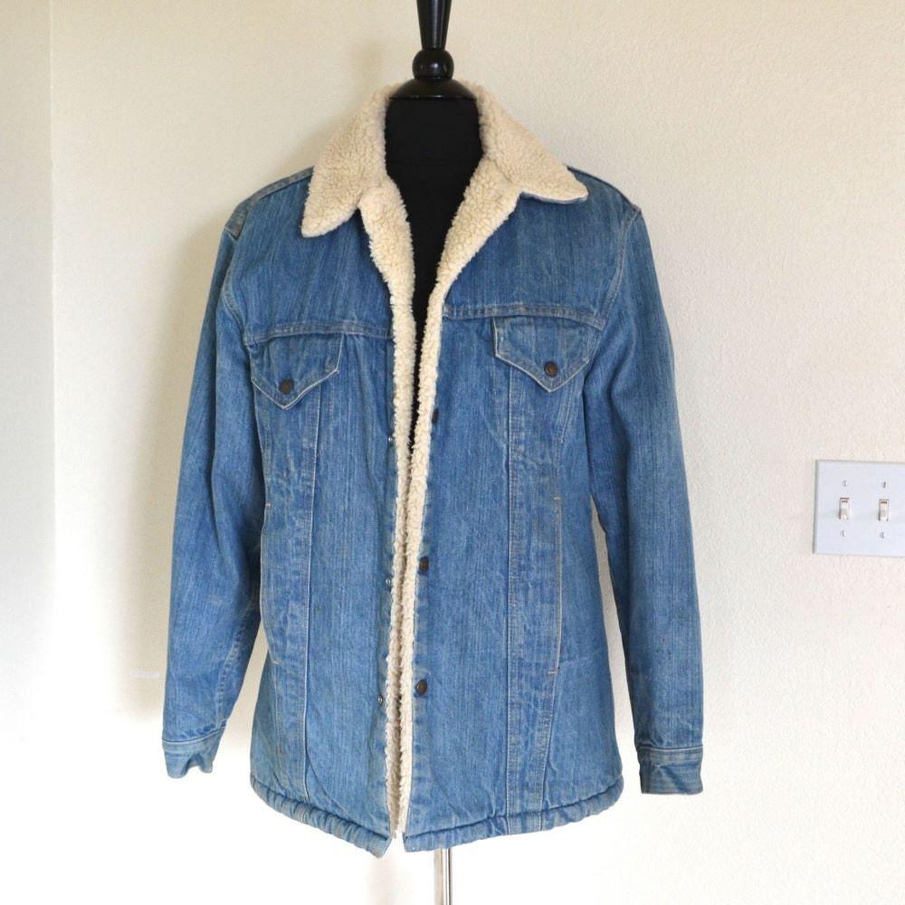 80s Wool Lined Levis Denim Jacket Mens Size 40 Medium